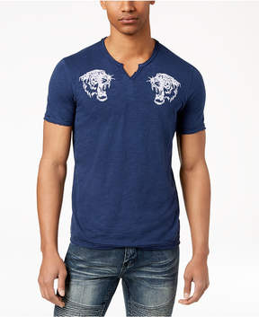 INC International Concepts I.n.c. Men's Embroidered Split-Neck T-Shirt, Created for Macy's