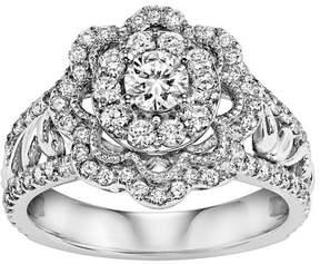 Keepsake 1 Carat T.W. Diamond 14kt White Gold Ring