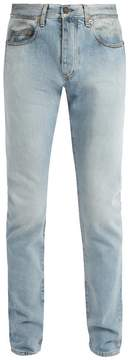 Saint Laurent Grease-effect straight-leg jeans