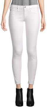 AG Adriano Goldschmied Women's Skinny Ankle Jeans - White, Size 29 (6-8)