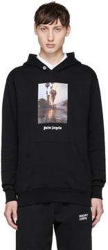 Palm Angels Black Burning Hoodie