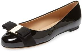 Salvatore Ferragamo Women's Varina Patent Leather Ballet Flat