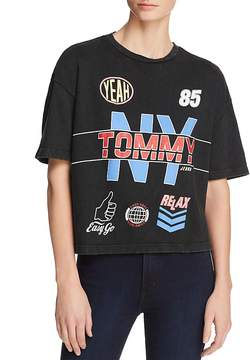 Tommy Jeans Racing Cropped Graphic Tee - 100% Exclusive