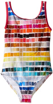Paul Smith Color Samples Printed Bathing Suit Girl's Swimsuits One Piece