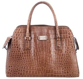 Michael Kors Embossed Gia Satchel - ANIMAL PRINT - STYLE