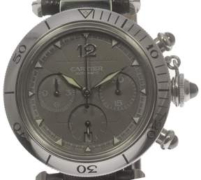 Cartier Pasha C W3107355 Chronograph Stainless Steel Automatic 38mm Mens Watch