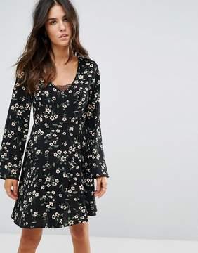 Brave Soul Floral Skater Dress