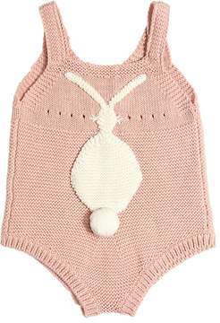 Stella McCartney Bunny Organic Cotton & Wool Bodysuit