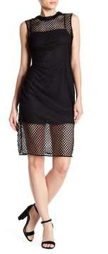 Alexia Admor Illusion Mesh Midi Dress