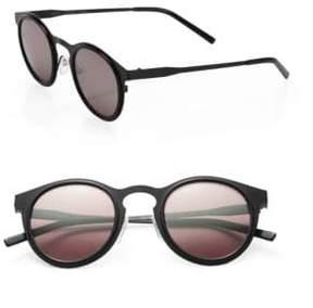 Kyme Miki 46mm Round Mirror Sunglasses