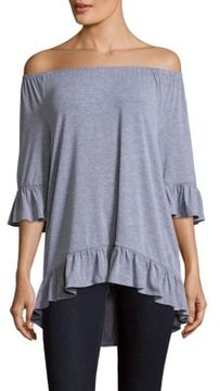 Chelsea & Theodore Elbow-Sleeve Hi-Lo Top