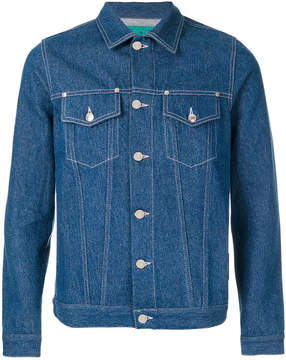 Paura unwashed jeans jacket