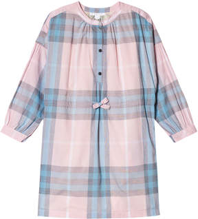 Burberry Ice Pink and Blue Check Mini Lola Dress