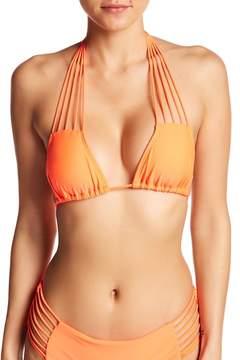 Luli Fama Verano de Rumba Strappy Triangle Bikini Top