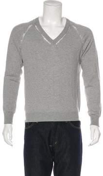 Christian Dior Distressed V-Neck Sweater