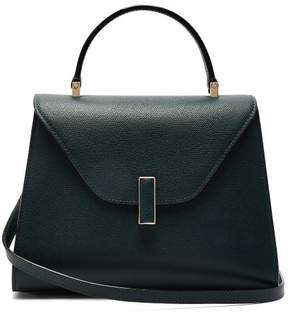 Valextra Iside Medium Grained Leather Bag - Womens - Dark Green
