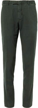 Boglioli Green Slim-Fit Stretch-Cotton Corduroy Suit Trousers