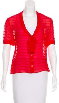 Cacharel Short Sleeve Silk Top