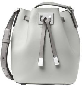 Michael Kors Miranda Medium Bucket Bag - CEMENT GREY - STYLE