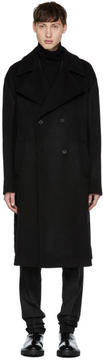 Yang Li Black Oversized Wool Coat