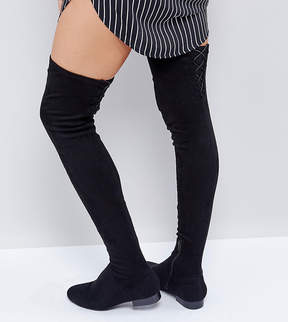 Asos KASBA WIDE LEG Flat Over The Knee Boots