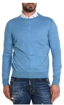 H953 Men's Light Blue Cotton Sweater.