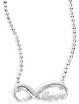 Alex Woo Little Faith Sterling Silver Infinity Necklace