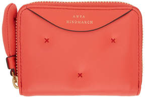 Anya Hindmarch Pink Small Chubby Zip Round Wallet