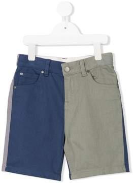 Stella McCartney color block denim shorts