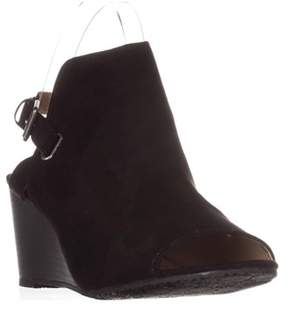 Esprit Angie Peep-toe Wedge Bootie Sandals, Black.