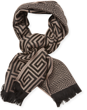 Versace Men's Sciarpa Wool Long Scarf