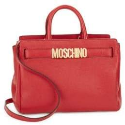 Moschino Convertible Leather Satchel