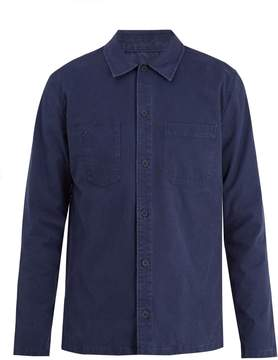 A.P.C. Franckie point-collar cotton overshirt
