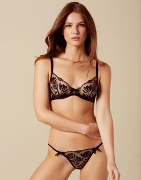 Agent Provocateur Sparkle Thong Black
