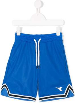Diadora Junior logo sports shorts