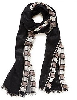 Fraas Black And White Pinata Scarf