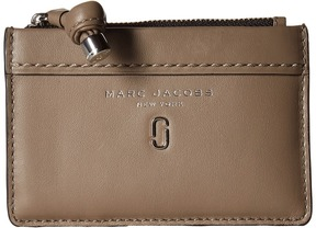 Marc Jacobs Tied Up Top Zip Multi Wallet Wallet Handbags - MUSHROOM - STYLE