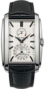 Patek Philippe 18K White Gold / Leather with White Dial 32.4mm Mens Watch