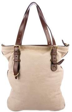 Alexander McQueen Leather-Trimmed Canvas Tote