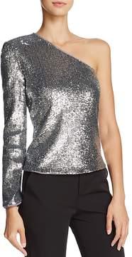 Bardot Sequined One-Shoulder Top