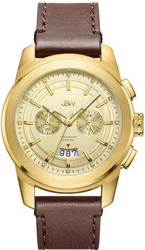 JBW Diamond Mens Brown Strap Watch-J6352b