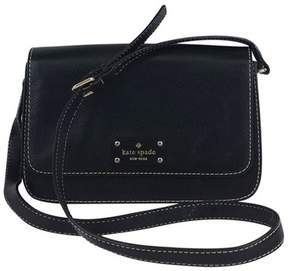 Kate Spade Black Pebbled Leather Crossbody Bag - BLACK - STYLE