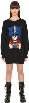 Moschino Transformer Bear Intarsia Knit Dress