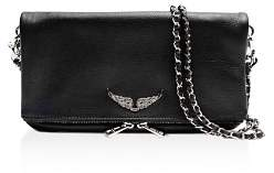 Zadig & Voltaire Rock Multi Zipper Leather Crossbody