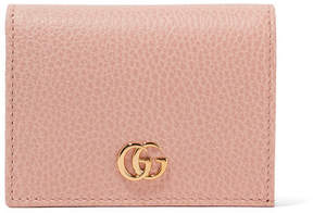 Gucci Marmont Textured-leather Wallet - Pastel pink