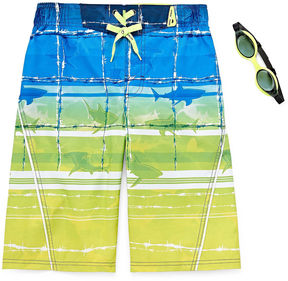 ZeroXposur Zero Xposur Boys Barbed Wire Swim Trunks-Big Kid