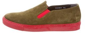 Comme des Garcons Suede Slip-On Sneakers