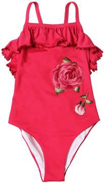 MonnaLisa Roses Lycra One Piece Swimsuit