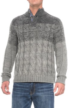 Rainforest Cable Henley Sweater (For Men)