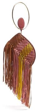Roksanda Eartha Striped Woven Leather Clutch - Womens - Multi